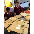 So much cardboard for our Viking armour!
