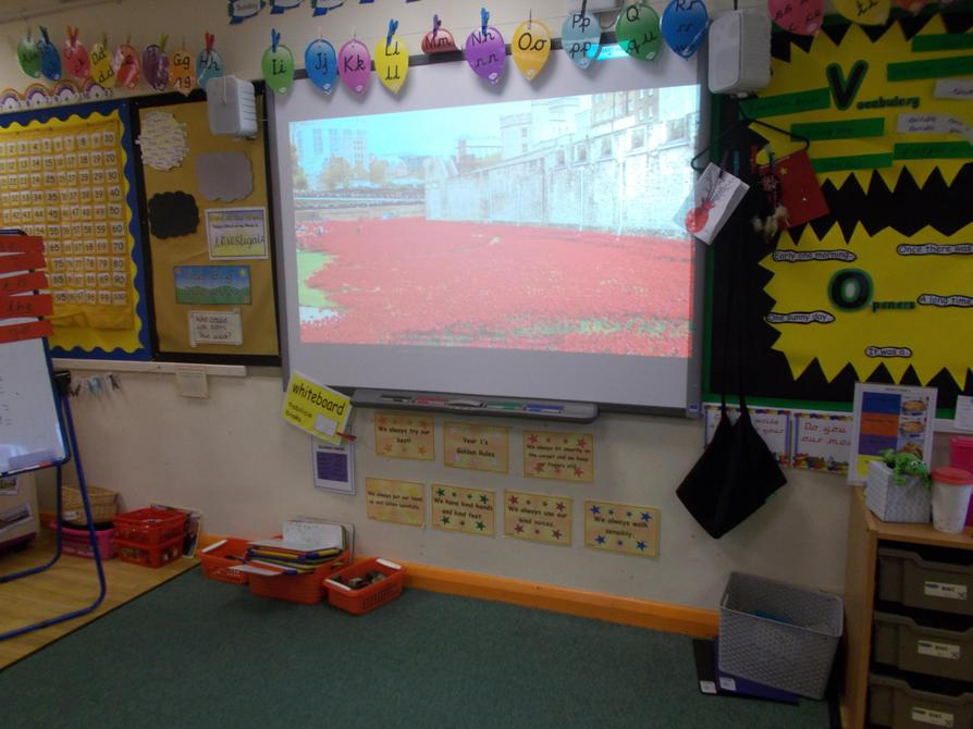 We looked at clips of the poppies.