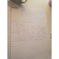 Some fantastic diary writing from Weronika