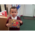 """Look what I've made using the pin board."""