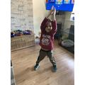 Mikolaj doing some exercise