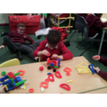 Using Stickle Bricks to build a car