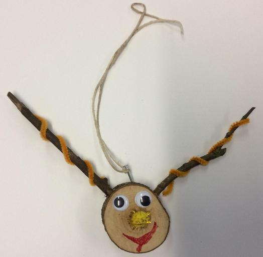 Reindeer Head Hanging Decoration 7 £1.00