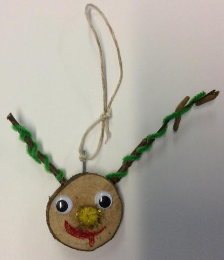 Reindeer Head Hanging Decoration 6 £1.00