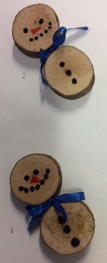 Wooden Snowmen Decorations - £1.50 each     Number 1 SOLD