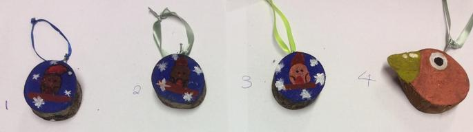 Robin Hanging Christmas Tree Decorations - 75p each   Numbers: 3 & 4 SOLD