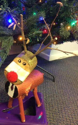 Medium Wooden Reindeer - £5.00  SOLD
