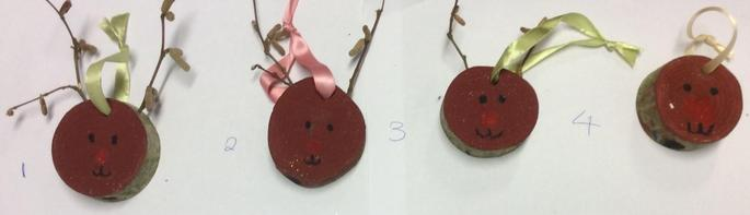 Reindeer Hanging Christmas Tree Decorations - 75p each  Number 3 SOLD