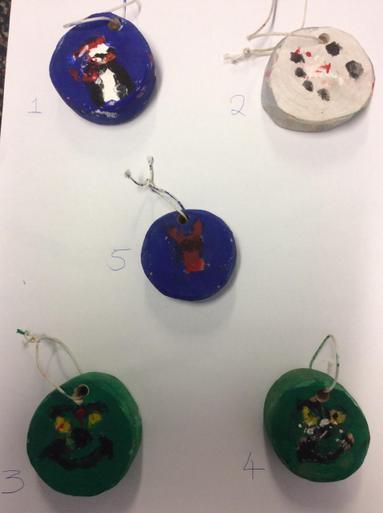 Hanging Christmas Tree Decorations - 50p each  Number 5 SOLD