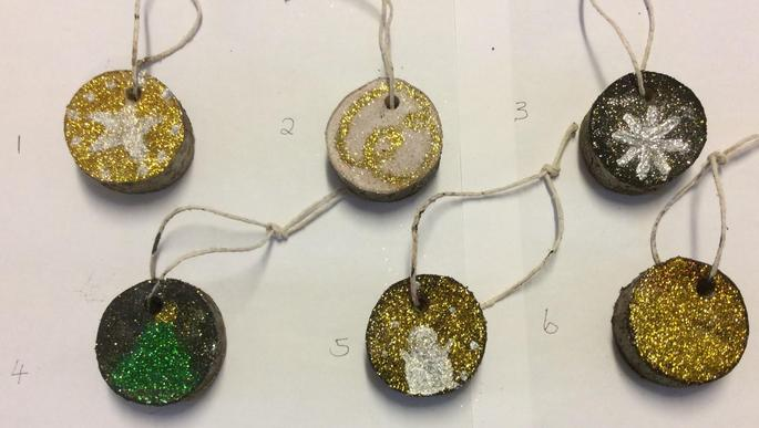 Hanging Christmas Tree Decorations - £1.00 each   Numbers: 1 & 2 SOLD