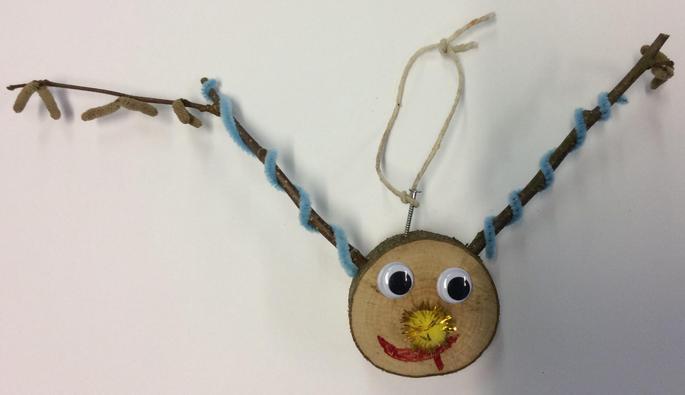 Reindeer Head Hanging Decoration 8 £1.00