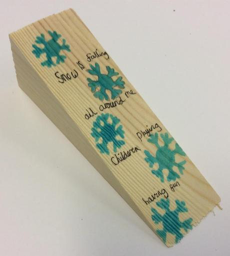 Snowflake Doorstop - £1.50 SOLD
