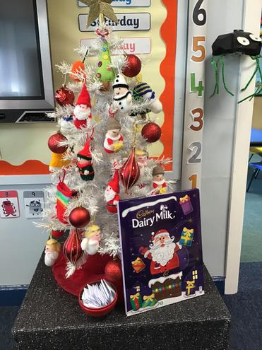 Christmas has started in Reception