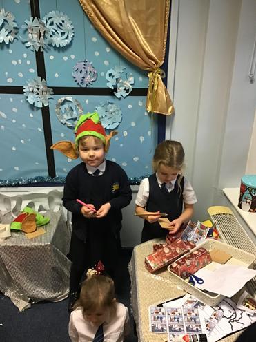 We enjoyed being elves in Santa's workshop