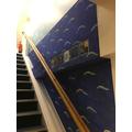 Y4's Peter Pan theme stairwell