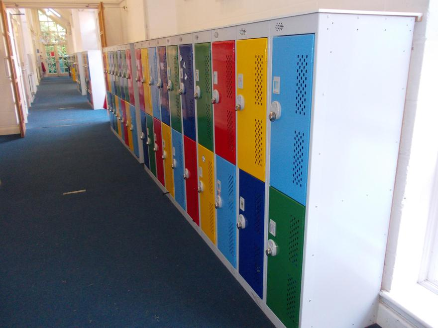 Our provision of lockers for every pupil