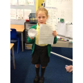 Amy was the first Y3 to crack the code!