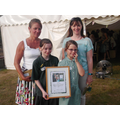 Mrs Burles,Mrs Whyte,Ellie & Holly with our award