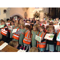 "Year 1 sang the Harvest Song ""Cabbages Fluffy"""