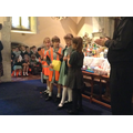 Year 5 read their Harvest Prayers