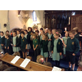 Year 4 sang their Harvest Thanksgiving Song