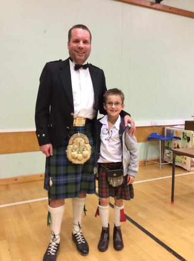 Celebrating Burns Night with Mr Duncan