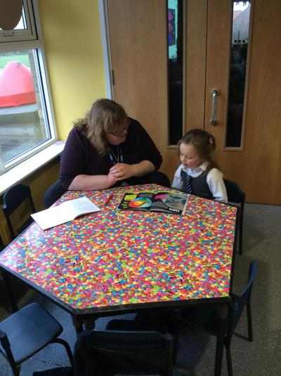 Working with Mrs Mellor.