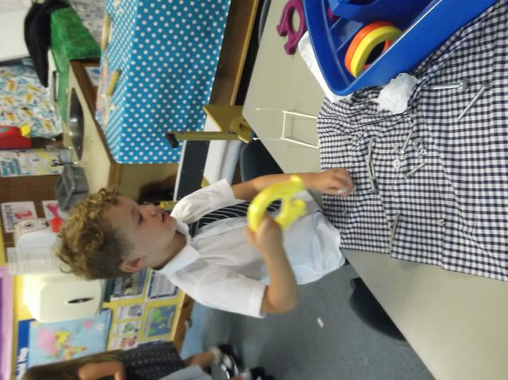 We experimented with the magnets.