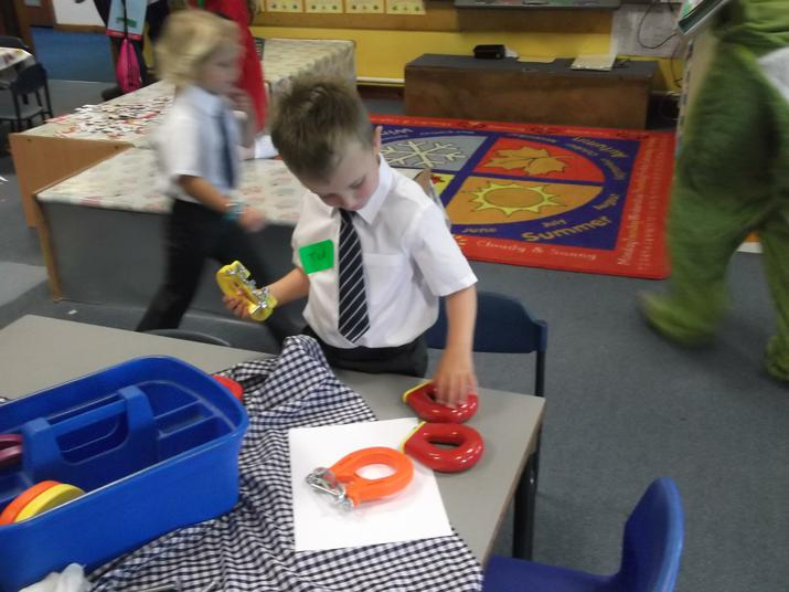 We explored the magnets.