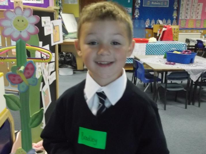 A happy smiley Bradley.