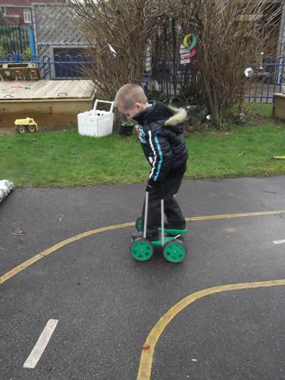 Mastering the wonky walker.