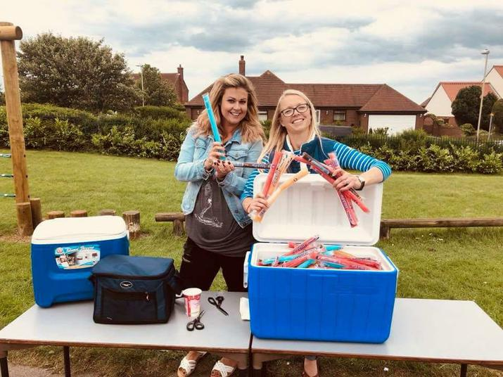 Gemma and Sarah ready for action!