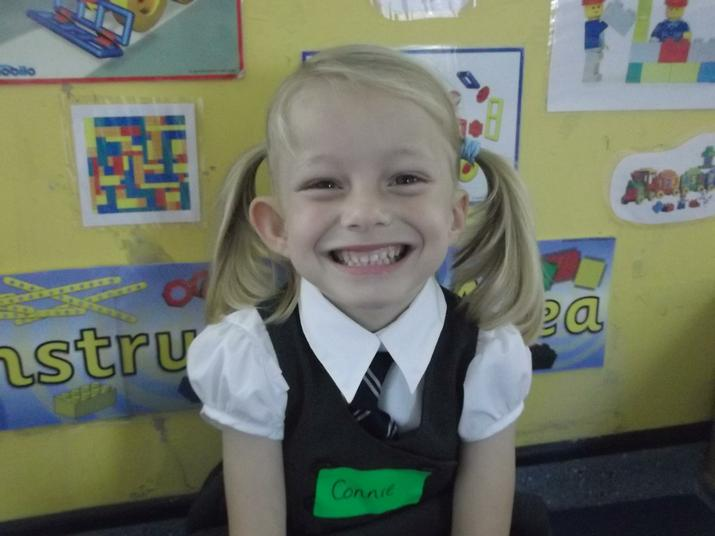Connie was happy to be at School
