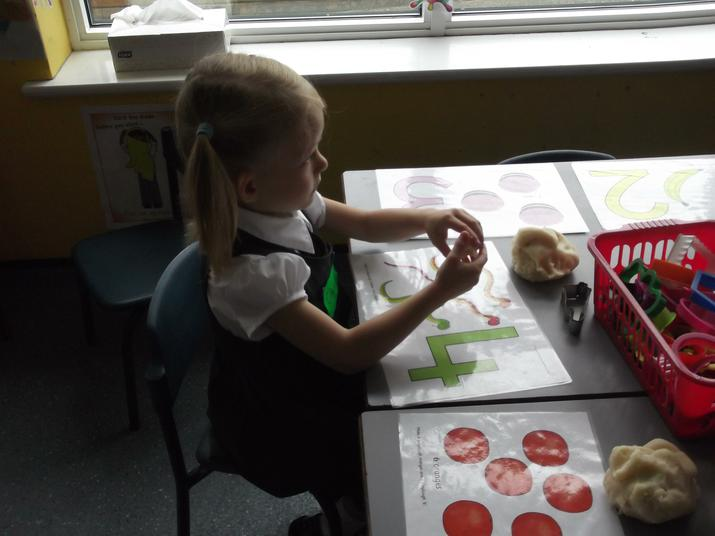 We followed instructions for the playdough.