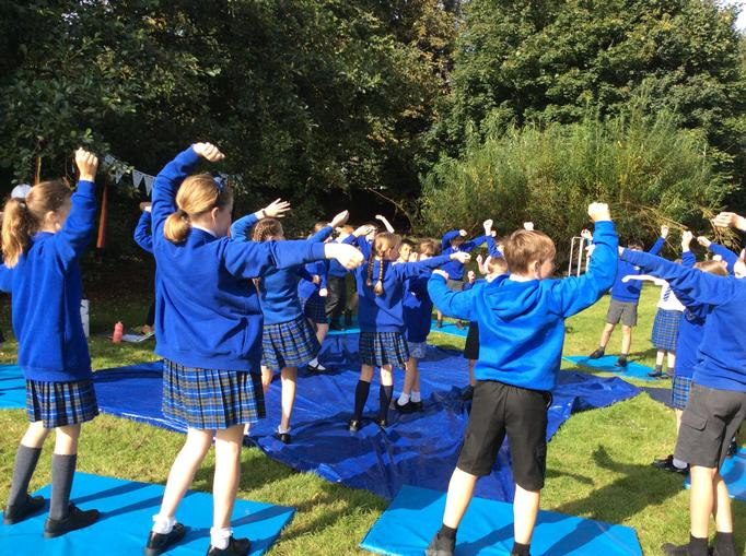 Yoga & mindfulness session on the school field