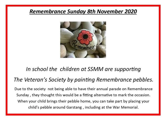 Remembrance pebble painting poster