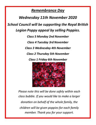 Remembrance Day poppy sale poster