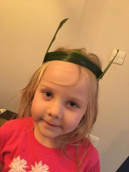 A jungle headband