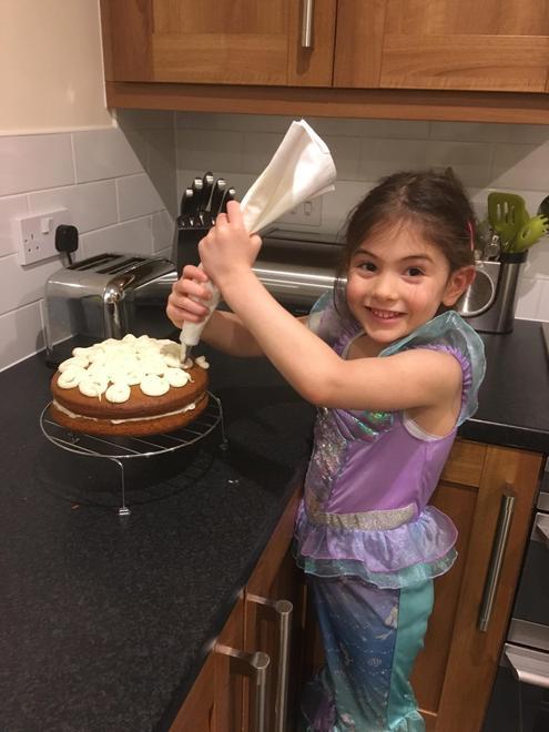 Baking a yummy cake!