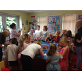 We went to Brewood Library and did some fun crafts