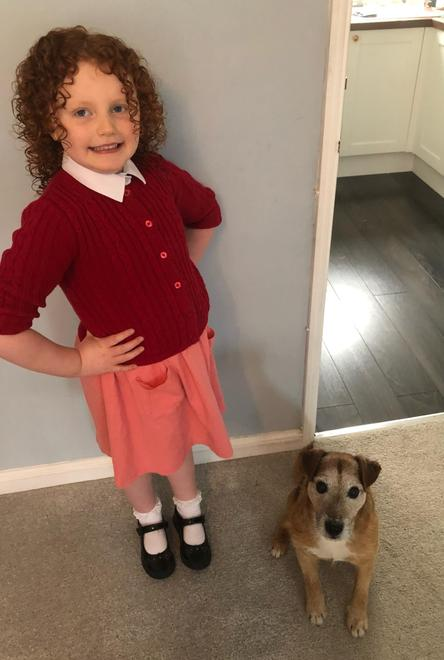 Dressing up as Annie