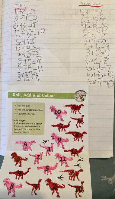 Roll and colour maths