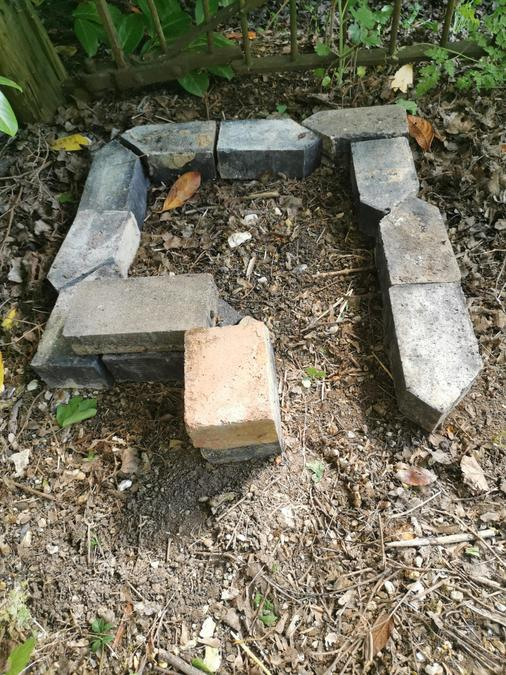 lay out some bricks like this