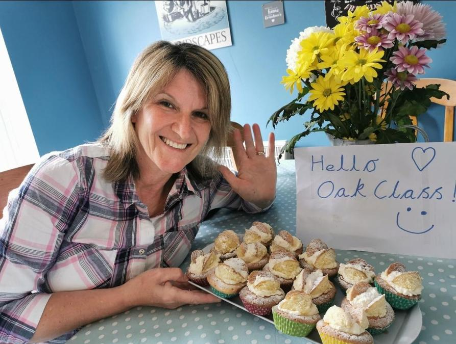 Mrs Hamlen has been baking! Can you read her sign?