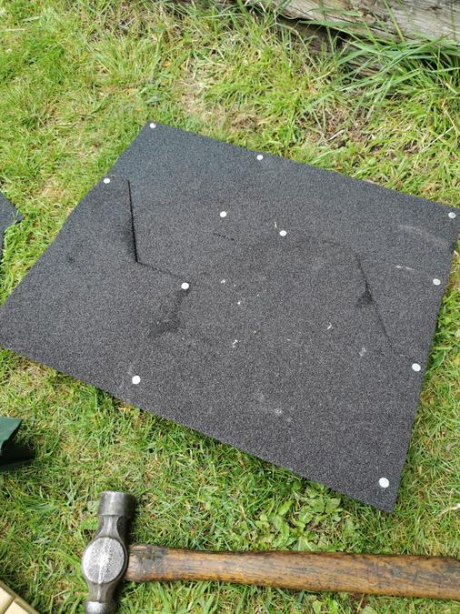 cover some wood with felt or use slab