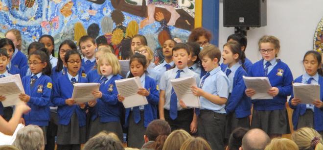 We sang a mixture of songs and carols.