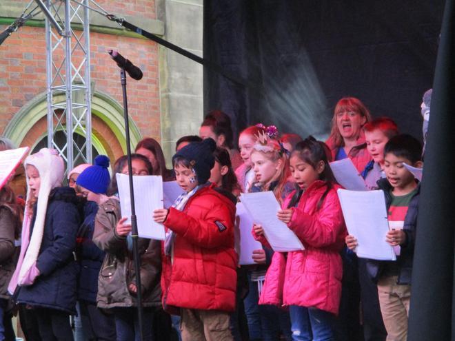 We sang some traditional carols.