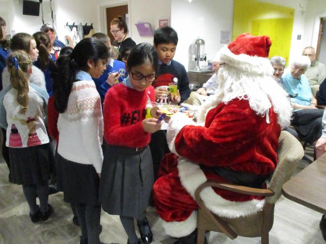 Santa gave us sweets!