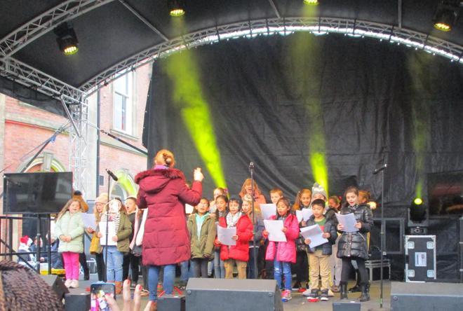 We sang some Christmas classics.