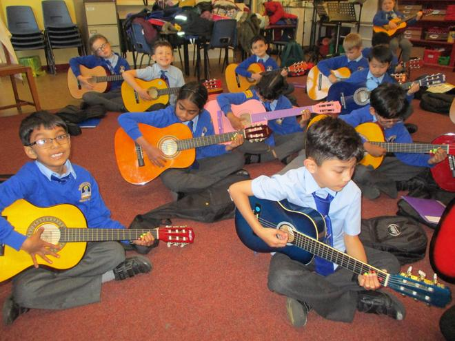 We have learned to play several chords.